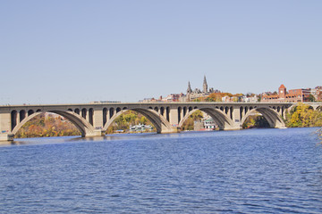 Georgetown Bridge, Washington DC , Potomac River