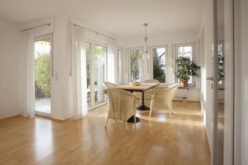 Interior shot of a dining room