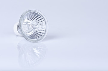 A Halogen lamp isolated on white