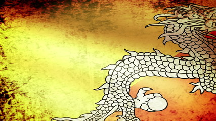 Bhutan Flag Waving, grunge look