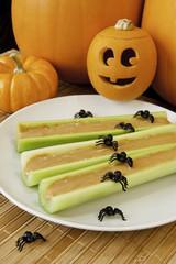 Healthy Halloween Celery Sticks