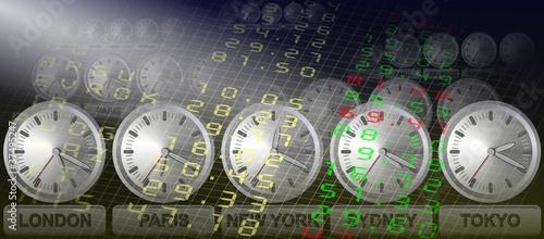 Stock exchange clocks