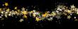 abstrakter Hintergrund, schwarz, Lametta, Sterne, funkeln, xmas