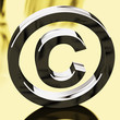 Silver Copyright Sign Representing Patent Protection.