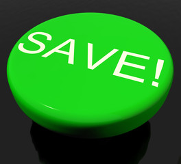 Save Button As Symbol For Discounts Or Promotion