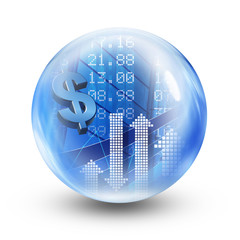 dollar glass ball