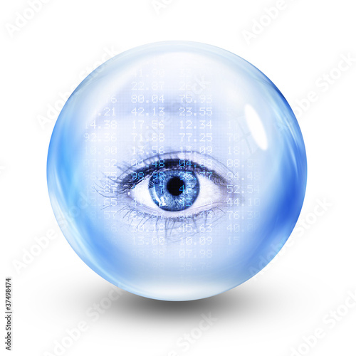 financial glass eye