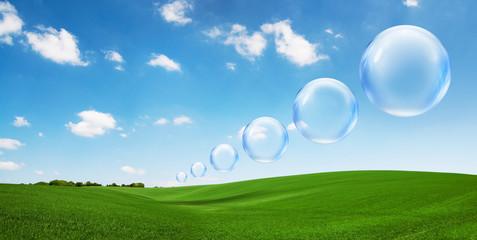 landscape bubbles
