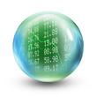 Stocks and shares glass ball