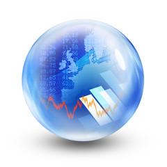 stock market glass ball