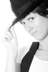 Black and White Portrait, Retro Style