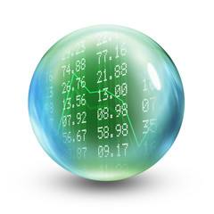 Stocks and shares glass ball