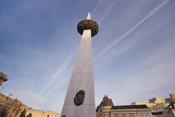 monument in the Revolution square, Bucharest