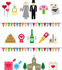 wedding pictograms