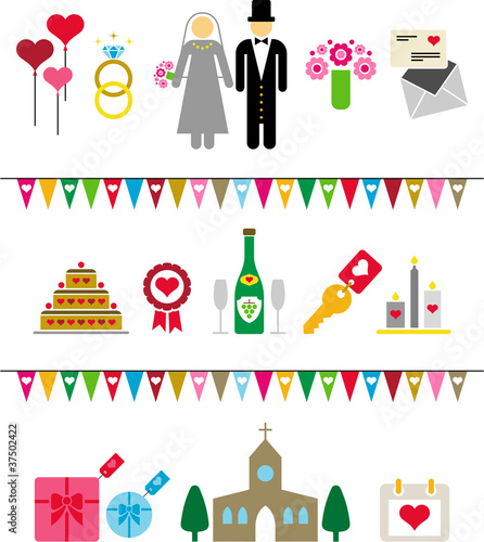 wedding pictograms