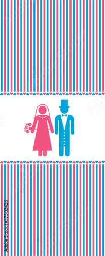 pictograms of a husband and a wife