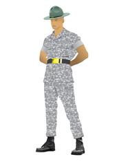 Drill instructor illustration