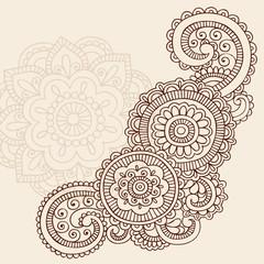 Henna Abstract Doodle Mehndi Tattoo Vector Design