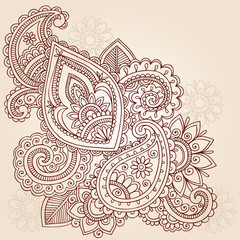 Henna Abstract Doodle Mehndi Tattoo Vector Design