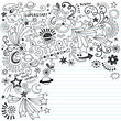Superstar Inky Scribble Doodles Vector Design Elements