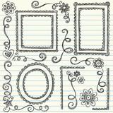 Sketchy Frames Doodles Vector Illustration Set poster