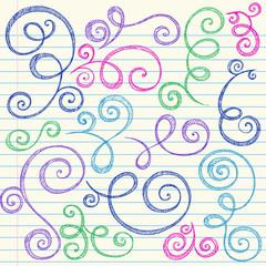 Sketchy Doodle Swirls