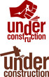 Under construction signs set