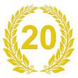 Lorbeerkranz Gold - 20