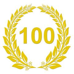 Lorbeerkranz Gold - 100