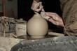 Leinwandbild Motiv Keramik-Herstellung