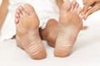 Massage der Zehen