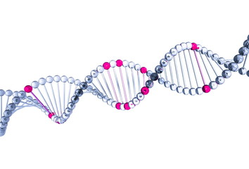 3d DNA. Isolated on white background