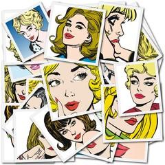 Coleccion de Ilustraciones con mujeres hermosas
