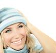 Cute girl wearing winter hat