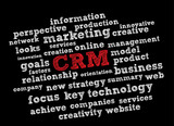 CRM word cloud vector background