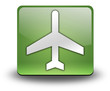 """Green 3D Effect Icon """"Airport / Airplane"""""""