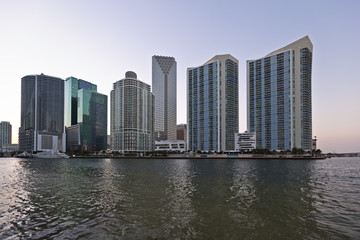 downtown miami in late afternoon
