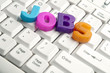 Jobs word made by colorful letters