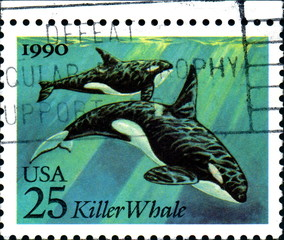 Killer Whale. US Postage.