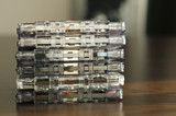 Pile of audio tape cassettes