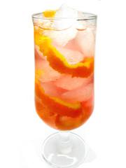 alcohol liqueur cocktail with orange