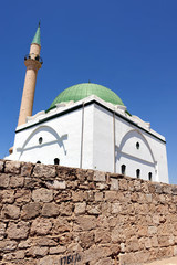 Jezzar Pasha Mosque in Acer-Akko, Israel