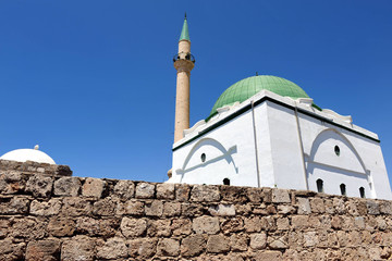Jezzar Pasha Mosque in Acre-Akko, Israel