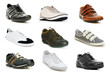 Various shoes isolated on the white