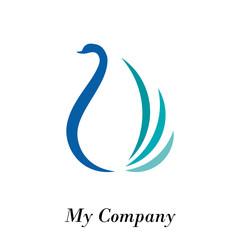 Logo swan, elegance and fashion # Vector