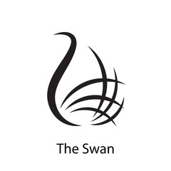 Logo swan, elegance and fashion # Vector