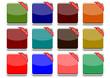 Set pulsanti di diversi colori (vettoriali)