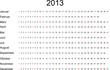 Kalender 2013, Matrix