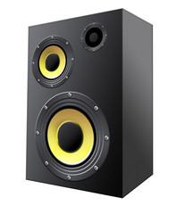 Speaker system isolated on white