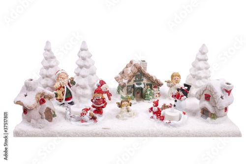 weihnachtliche landschaft mit schnee von simsalabin1. Black Bedroom Furniture Sets. Home Design Ideas